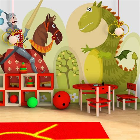 chambre chevalier papier peint pour chambre d 39 enfant et chevalier