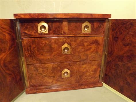 c19th victorian period burr walnut table cigar cabinet