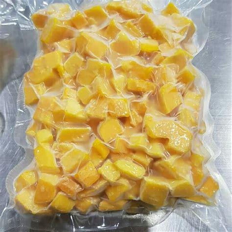 jual ready stock buah mangga potong kotak beku fresh