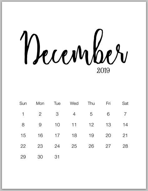 minimalist printable calendar january december calendarbuzz