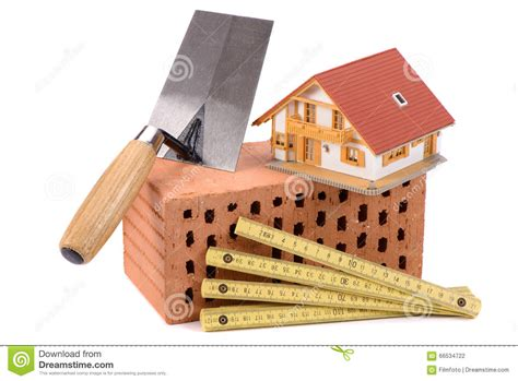 Ziegelsteine Fuer Den Hausbau by Ziegelstein F 252 R Hausbau Und Werkzeug Stockfoto Bild