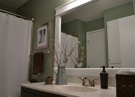 Large Bathroom Mirror Frame by Dwelling Cents Bathroom Mirror Frame