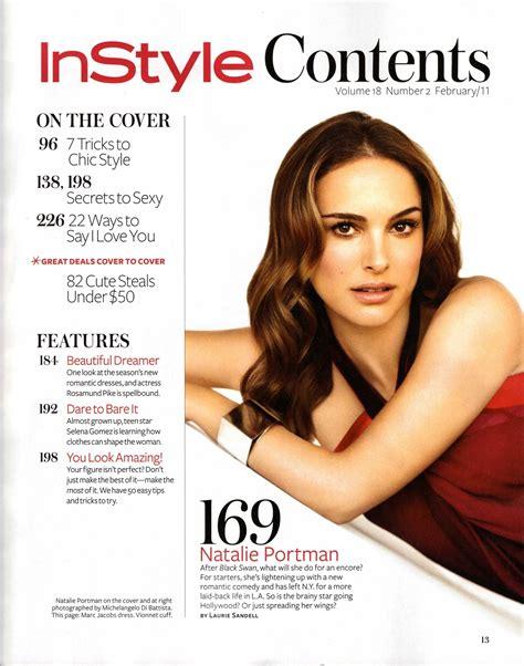 Instyle Magazine Natalie Portman Photo Fanpop