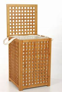 Meuble Bambou Salle De Bain : coffre a linge bambou ~ Teatrodelosmanantiales.com Idées de Décoration