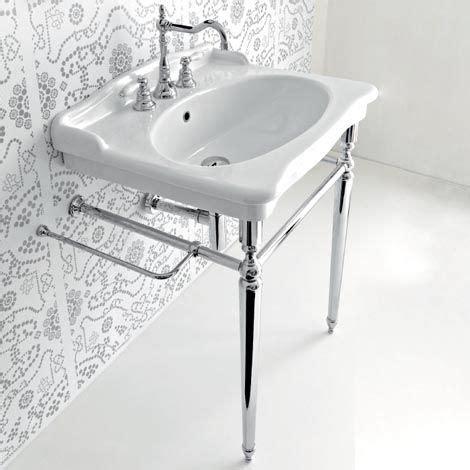 Bathroom Sink Metal Legs by Pedestal Sink With Metal Legs Hermitage Console 92