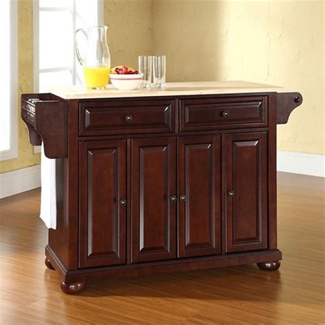 crosley furniture alexandria natural wood top kitchen