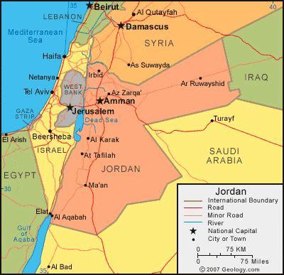 jordan map  satellite image