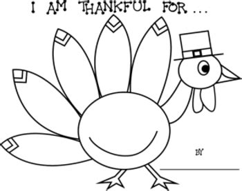 Turkey Math Template by Thanksgiving Quot I Am Thankful For Quot Turkey Printable