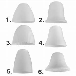 Set of white glass domed ceiling light pendant shades
