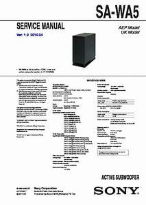 Sony Ht-af5  Ht-as5  Sa-wa5 Service Manual