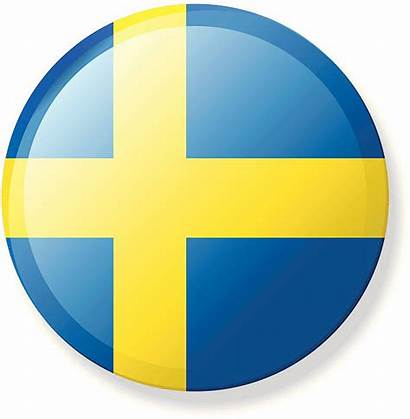 Flag Swedish Sweden Vector Button Clip Illustrations