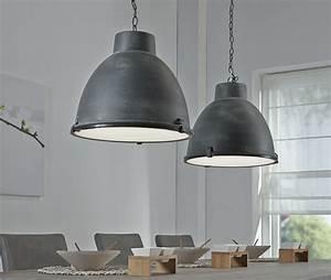 Suspension Luminaire Industriel : luminaire suspension en m tal effet b ton style moderne oven ~ Teatrodelosmanantiales.com Idées de Décoration