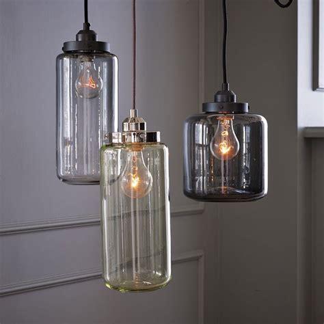 glass jar pendant lighting