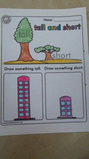 tall  short concept kindergarten activities math