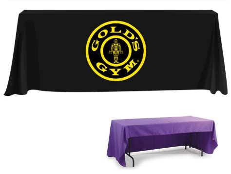 custom table covers with logo custom table cloth with logo custom printed table throw