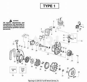 Poulan Ppb2000le Gas Blower Type 1 Parts Diagram For