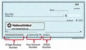 Diagram Of Georgetown Bank Check