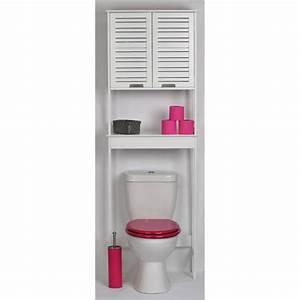 Petit Meuble Pour Wc : meuble dessus wc blanc miami achat vente colonne armoire wc meuble dessus wc blanc miami ~ Teatrodelosmanantiales.com Idées de Décoration