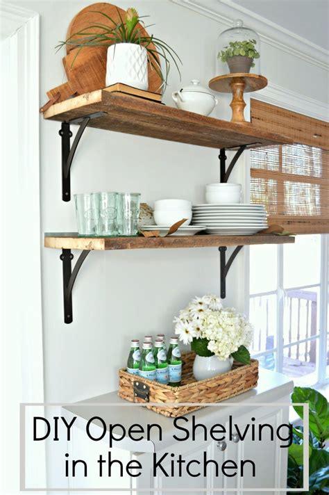 kitchen open shelving design diy barn wood shelves in the kitchen for 50 5433