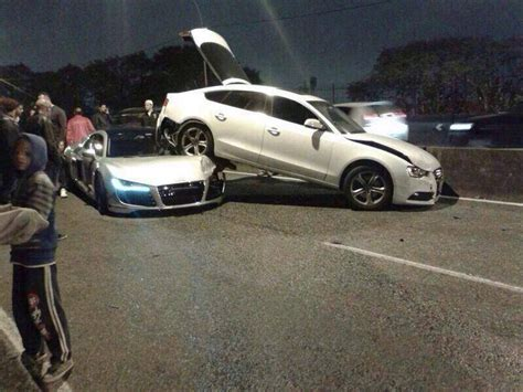audi  crashes   sportback  brazil