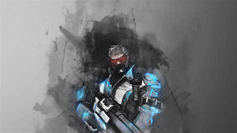 overwatch soldier  wallpaper wide gamers wallpaper p