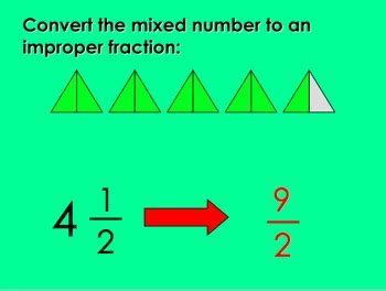 converting mixed numbers  improper fractions
