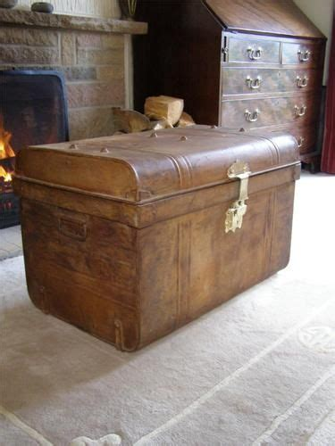 Large Bedroom Trunk by Large Antique Metal Tin Trunk Coffee Table
