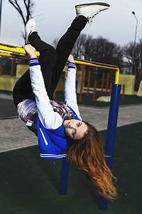 Girls, Hanging, Upside, Down, Stock, Photos, Pictures, U0026, Royalty