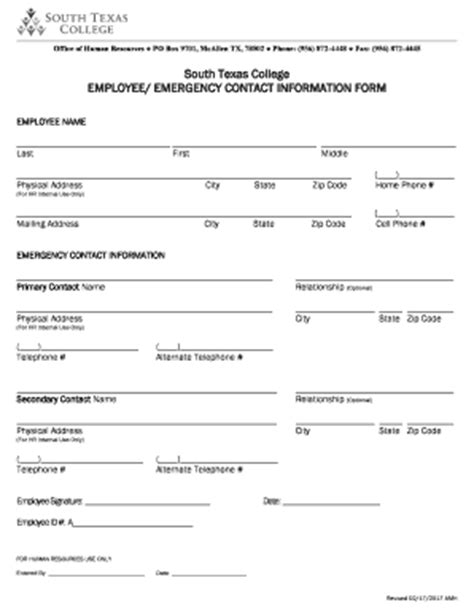 employee emergency fill online printable fillable