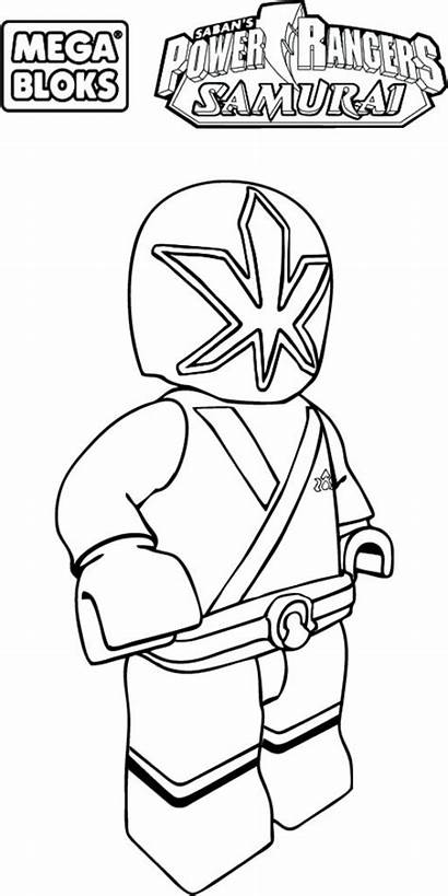 Rangers Coloring Power Samurai Pages Lego Ranger