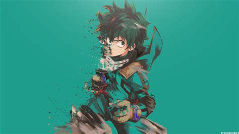 boku  hero academia midoriya izuku art full hd wallpaper