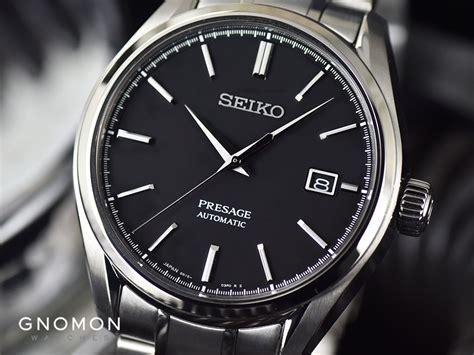 seiko watches presage automatic black baby gs titanium