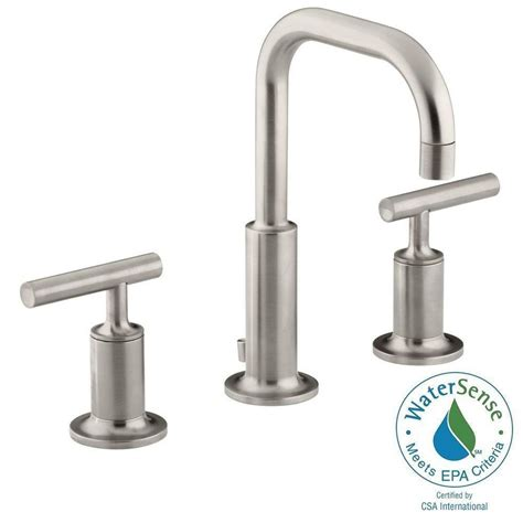 home depot sink faucets kohler purist 8 in widespread 2 handle water saving