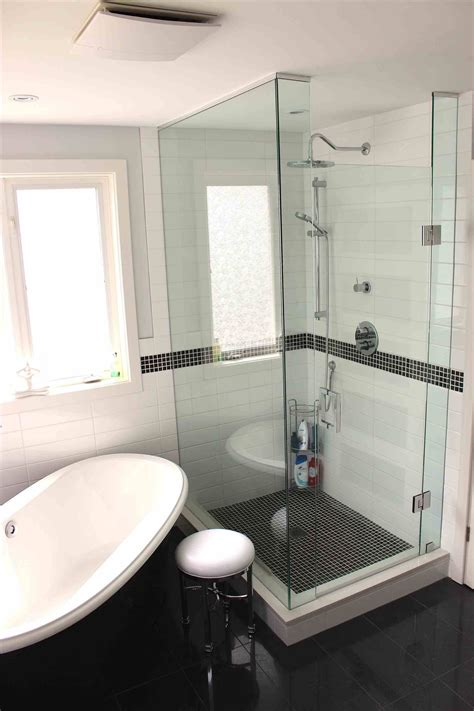 small master bathroom  separate tub  shower stand