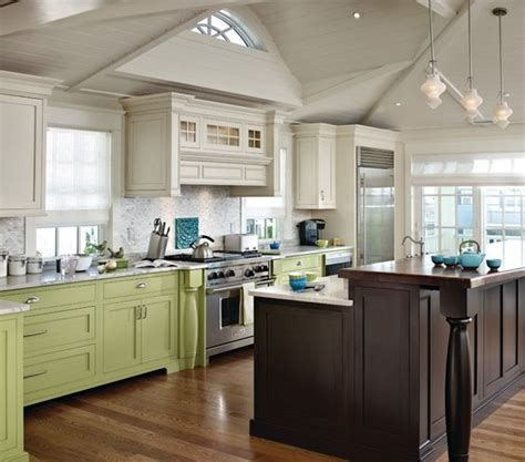 Multi Color Cabinets  Kitchen  Pinterest  Traditional
