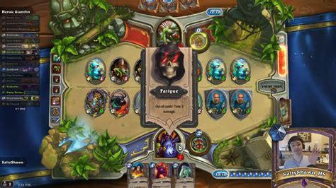 0 dust heroic challenge warlock vs giantfin hearthstone decks