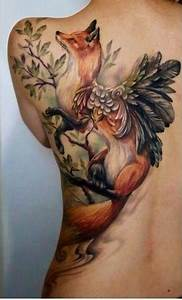 Fox with wings tattoo on back | Tattoo | Pinterest | Foxes ...