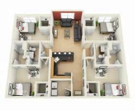3 bedroom house plan 50 four 4 bedroom apartment house plans architecture design