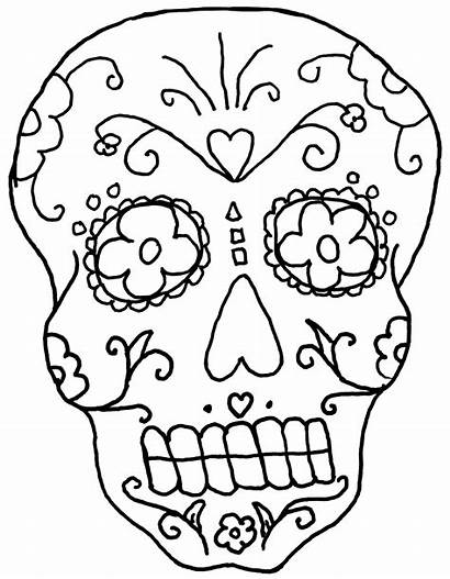 Coloring Skeleton Face Skull Pages Cool Printable