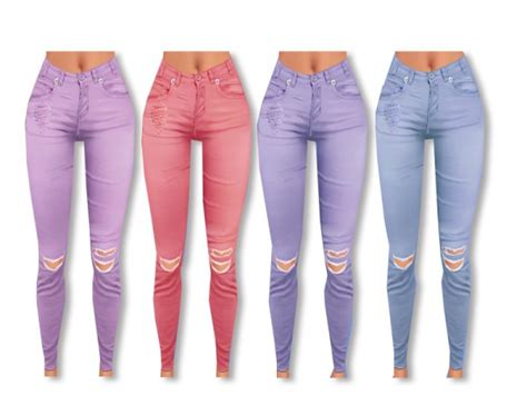 sims resource rebel jeans  pinkzombiecupcake sims
