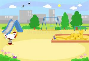 Empty Urban Playground Vector Stock Vector - Illustration ...