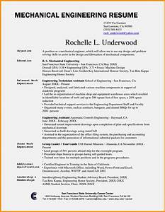 mechanical engineer cv example resume template cover With engineering examples