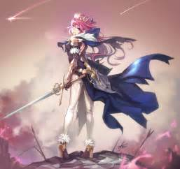 Long, Hair, Pink, Hair, Anime, Anime, Girls, Armor, Sword, Weapon, Hd, Wallpapers, Desktop, And