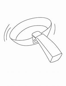 Coloring pages a frying pan