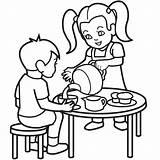 Coloring Tea Party Pages Autism Colouring Retirement Sheet Clipart Cartoon Boston Cliparts Clip Children Lis Fleur Frank Anne Library Child sketch template