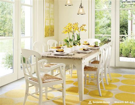 yellow kitchen table and fresh springtime table settings hooked on houses