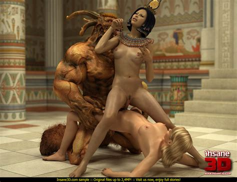Egyptian Queen And Her Blonde Slave Girl Get Cartoon Sex Picture 4