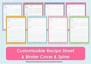 printable recipe sheet template recipe card recipe With free recipe templates for binders