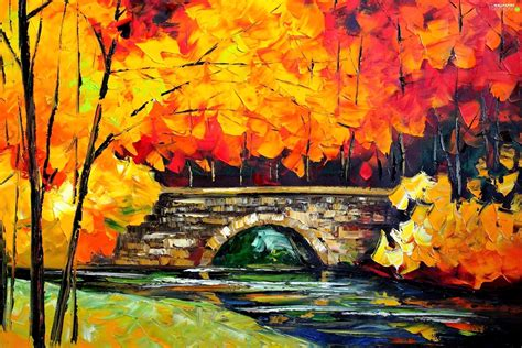 Painting Wallpaper by Leonid Afremov Autumn For Phone Wallpapers 2352x1568
