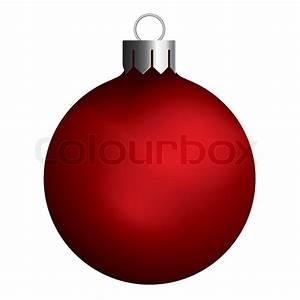 Christmas ball - red Stock Vector Colourbox